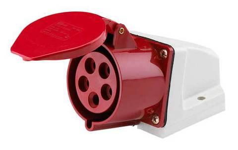 Розетка 125 стационарная 3Р+РЕ+N 32А 380В IP44 TDM