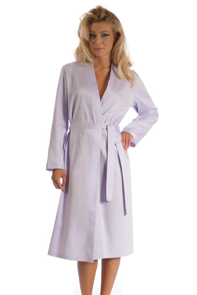 Сиреневый халат из хлопка B&B