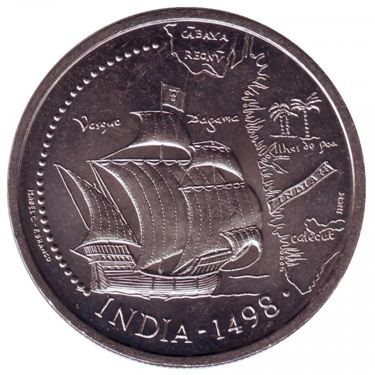 """200 эскудо """"500-летие открытия нового морского пути в Индию"""" 1998 год"""