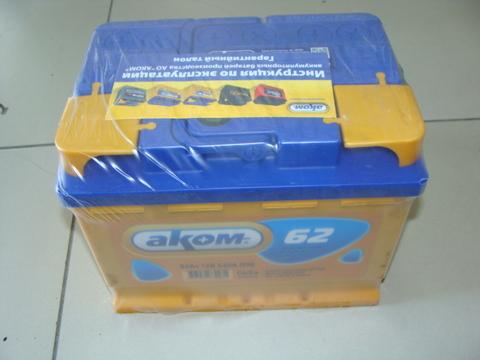 Аккумулятор АКОМ 6СТ-62А3 EN 540 (240/190/175)
