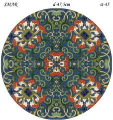 Эскиз для росписи, Круг диаметр-47,5см, SMAR-st-45
