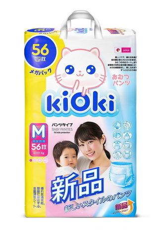 kiOki Детские подгузники-трусики M (6-11 кг) 56 шт