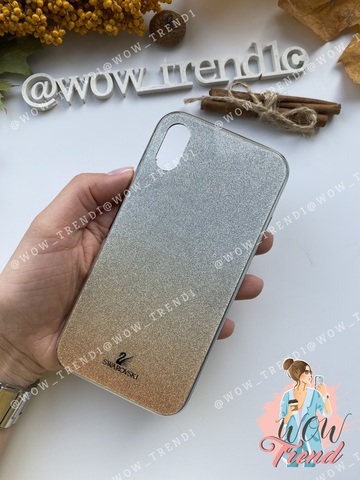 Чехол iPhone 7/8 Plus Swarovski Case /gold/