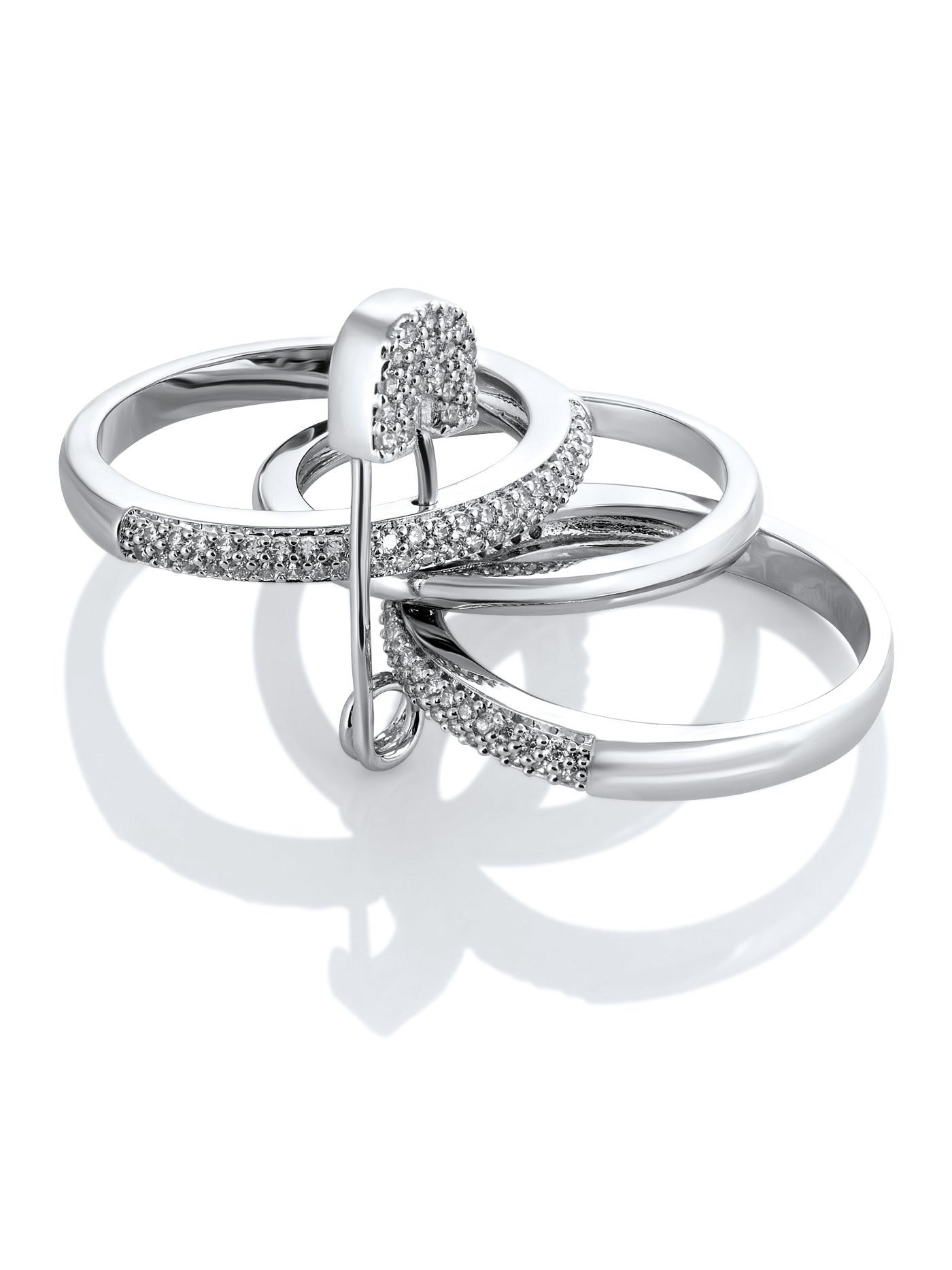 Стильное кольцо в подарочной коробке