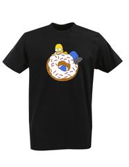 Футболка с принтом мультфильма Симпсоны (The Simpsons) черная 010
