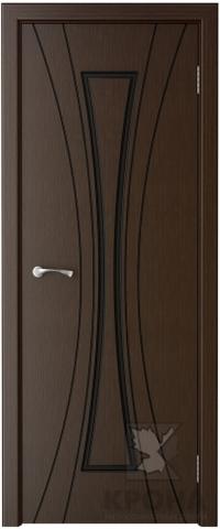Дверь Крона Эстет, цвет венге, глухая