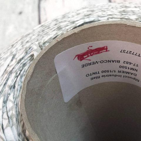 Хлопок ленточный FILPUCCI / DAMIER 150 белый с оливковым