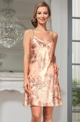 Короткая шелковая ночная сорочка Mia Amore LETUA(70% нат.шелк)