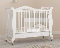 Кровать детская Габриэлла колесо-качалка,ящик белый