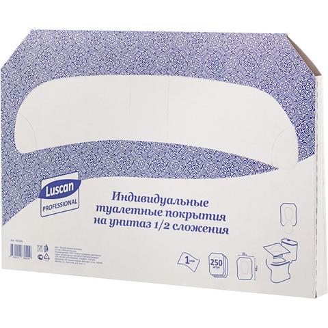 Одноразовые покрытия на унитаз Luscan Professional (250 штук в упаковке)
