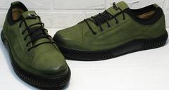 Мужские туфли из натуральной кожи. Демисезонные кеды Luciano Bellini C2801 Nb Khaki.