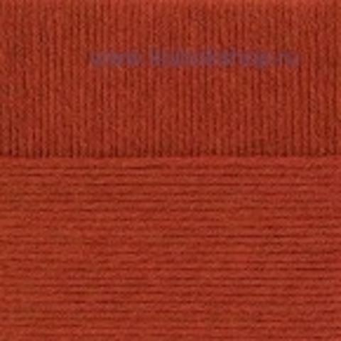 Пряжа Молодежная Пехорский текстиль Кирпичный 338