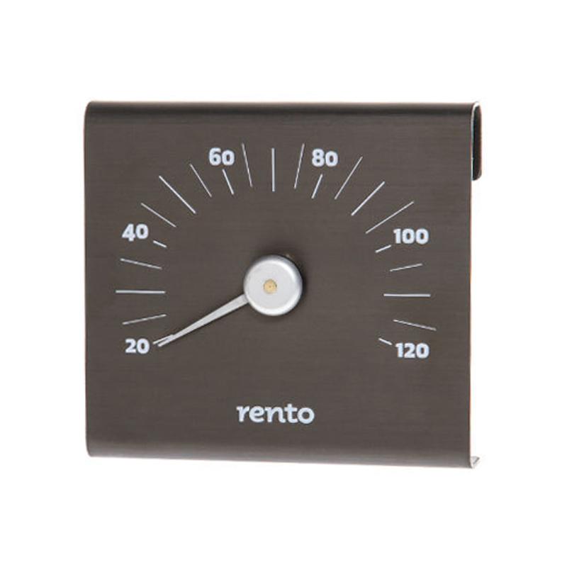 Термометр алюминиевый для сауны RENTO Цвет Какао