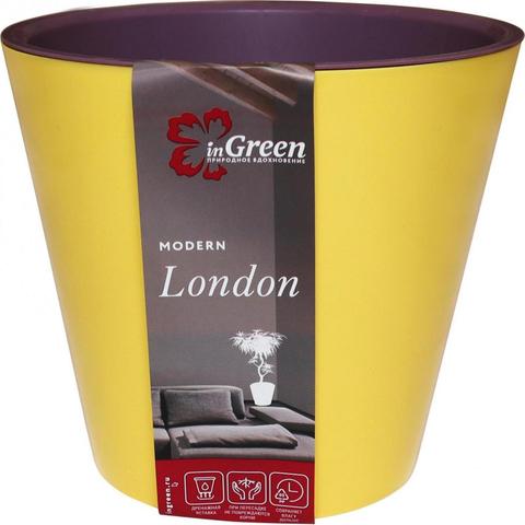 Горшок для цветов London 230 мм, 5л Спелая груша и морозная слива ING6206СГ