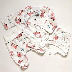 Mini Fox. Комплект для новорожденных швами наружу 3 предмета, лисы