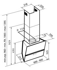 Вытяжка Korting KHC 69080 GB - схема