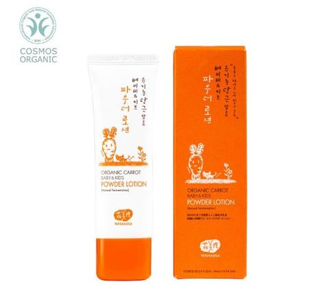 Whamisa Organic Carrot Baby&Kids Powder Lotion (Natural Fermentation)