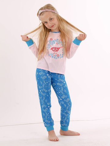 Пижама (джемпер+брюки) для девочки (122-128), Batik