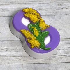 8 марта - Мимоза по диагонали, форма для мыла пластиковая