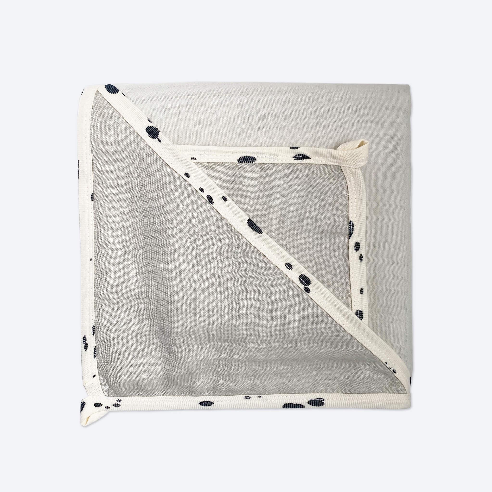 Комплект: Муслиновое полотенце с уголком и салфетка Mjölk Песочный