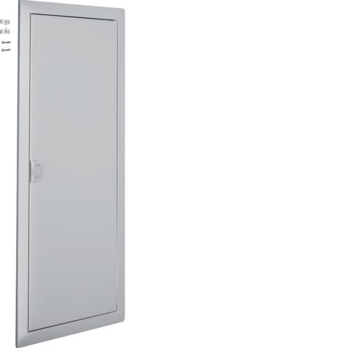 Наружная рамка с дверцей для встраиваемого щитка Volta,4-рядного, RAL9006, серебряный металлик