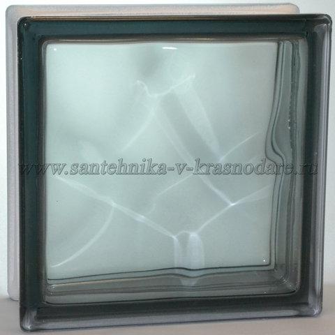 Стеклоблок серый  окраска в массе Vitrablok  19x19x8