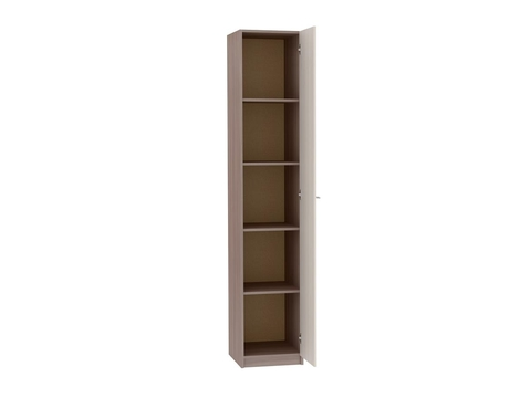Шкаф одностворчатый Марта ШК-115 бельевой Браво Мебель ясень шимо темный, светлый
