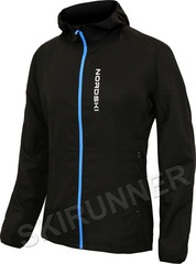 Беговая куртка с капюшоном Nordski Run Black-Blue