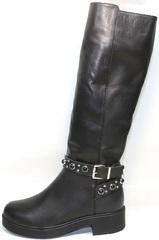 зимние сапоги на низком каблуке