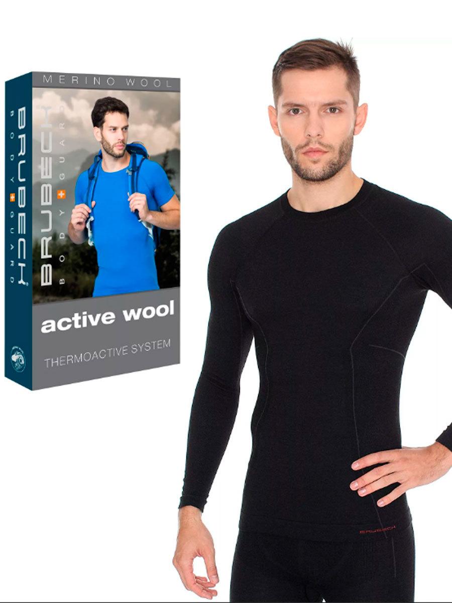 BRUBECK ACTIVE WOOL SHIRT black