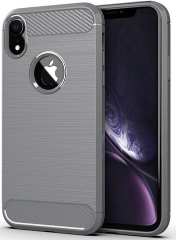 Чехол iPhone XR цвет Gray (серый), серия Carbon, Caseport
