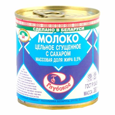 Молоко сгущеное ГЛУБОКСКОЕ ГОСТ 8,5% 380 гр ж/б БЕЛОРУСЬ