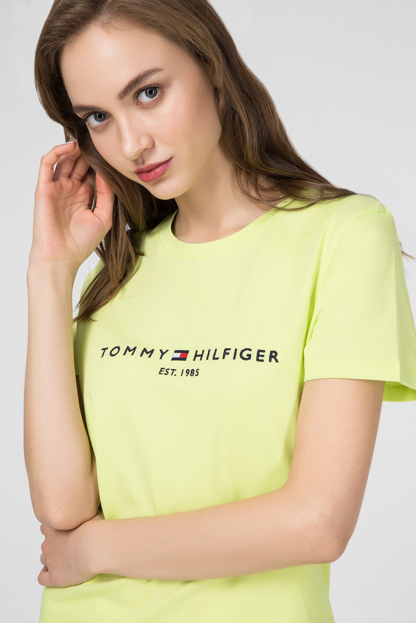 Женская салатовая футболка NEW TH ESS Tommy Hilfiger