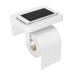 Держатель для туалетной бумаги с полочкой Flex белый Umbra