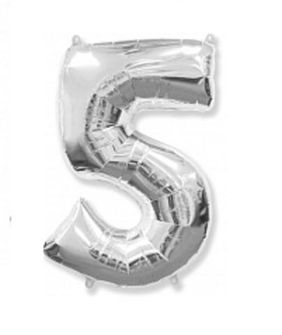 Цифра пять - серебро