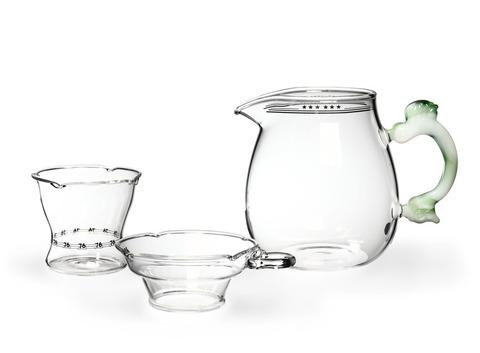 Набор из жаропрочного стекла для заваривания чая «Весна». Интернет магазин чая