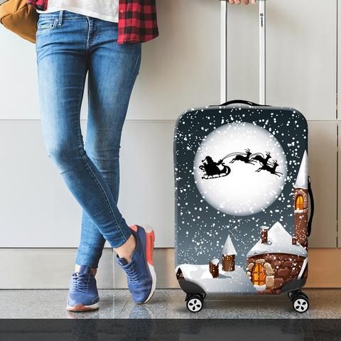 Чехол для чемодана - Санта