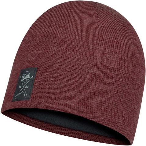 Шапка вязаная с флисом Buff Hat Knitted Polar Solid Maroon фото 1