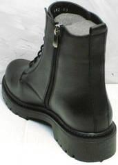 Черные осенние ботинки с молнией женские демисезон Misss Roy 252-01 Black Leather.