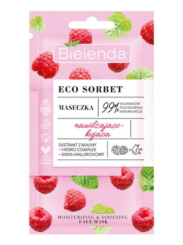ECO SORBET Raspberry Маска для лица увлажняющая и успокаивающая, 8мл