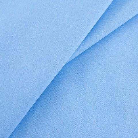 Бязь гладкокрашеная 120гр/м2 150 см цвет голубой