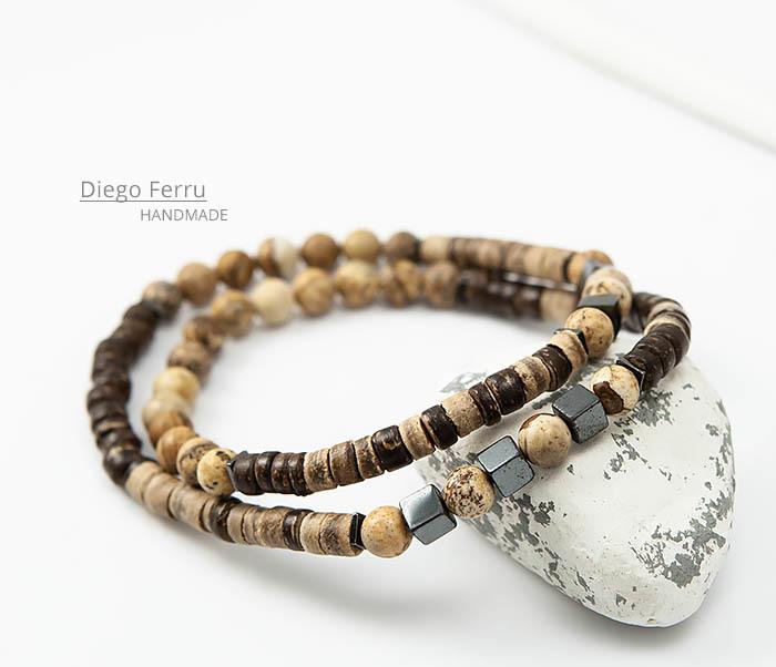 BS769 Эксклюзивный браслет ручной работы Diego Ferru, коллекция ETHNO фото 05
