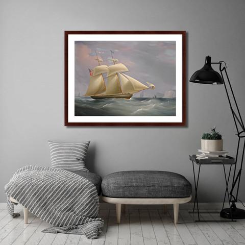 Уильям Джон Хаггинс - The topsail schooner, 1838г.