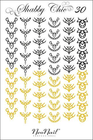 Трафарет для дизайна Shabby Chic 30 комбинированный
