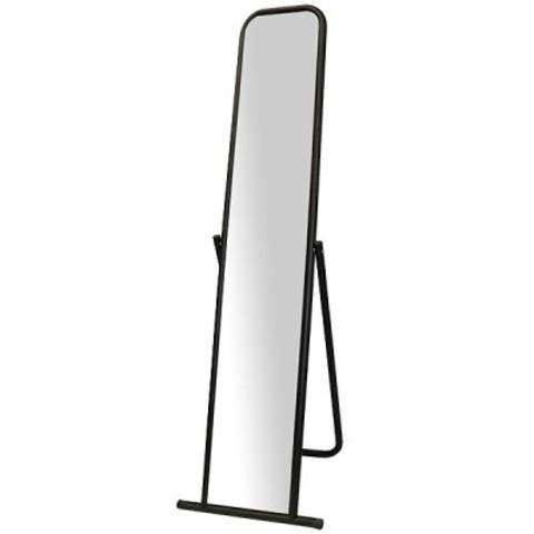 Зеркало напольное 4МS-01(чёрный муар) 500Lх1550Hx500Dмм, зеркальное полотно 1500х250мм