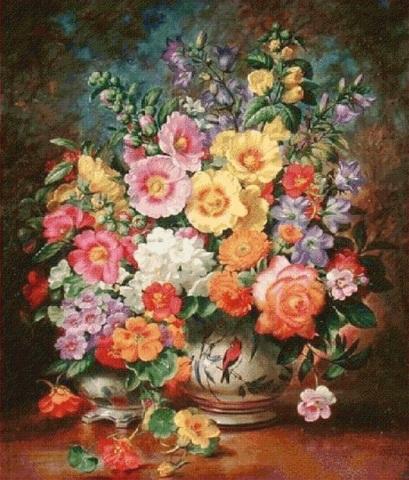 Алмазная Мозаика 40x50 Разноцветный букет