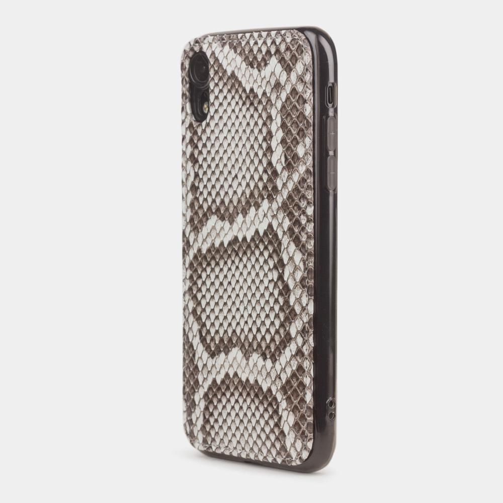 Чехол-накладка для iPhone XR из натуральной кожи питона, цвета Natur