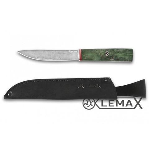 Нож Якутский, булат, стабилизированная карельская берёза