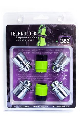 Секретные гайки колеса TECHNOLOCK 382 М14x1.5x37,5 ключ=21 шайба