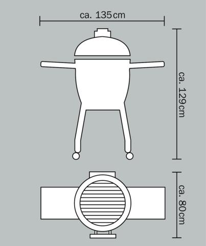 Керамический гриль Monolith Le Chef PRO очень большой на колёсиках (красный)